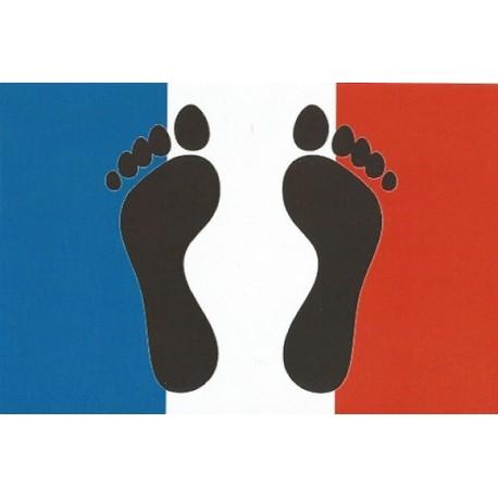Carte postale Pieds-noirs / Bleu-blanc-rouge