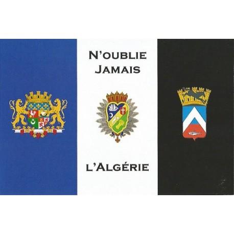 """Carte postale """"Drapeau des Français d'Algérie"""""""