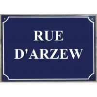 "Carte postale Plaque de rue - ""Rue d'Arzew"""