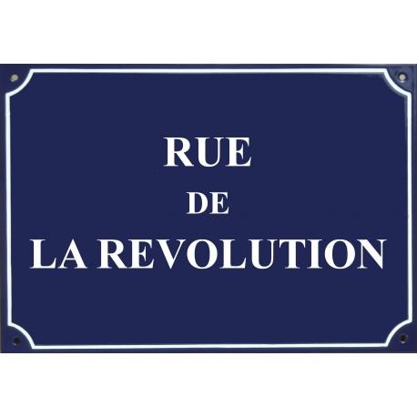 """Carte postale Plaque de rue - """"Rue de la Révolution"""""""