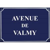 """Carte postale Plaque de rue - """"Avenue de Valmy"""""""