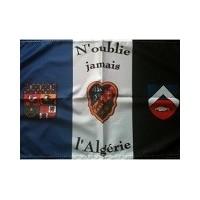 Drapeau des Français d' Algérie 30 x 45 avec hampe