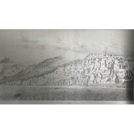 """Lithographie """"Vue d'Alger"""""""