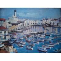 """Peinture """"Le Port d'Alger"""""""