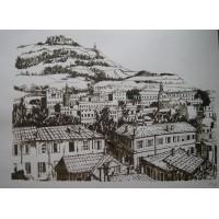 Lithographies Vue d'Oran, Santa Cruz