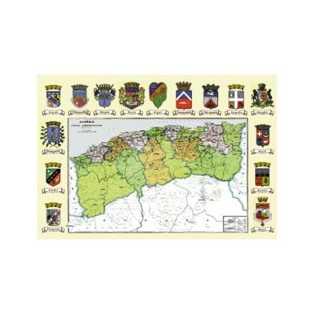 Carte administrative de l'Algérie 1958