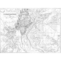 Plan des rues de Constantine, 1956