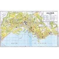 Plan des rues d'Alger, 1961