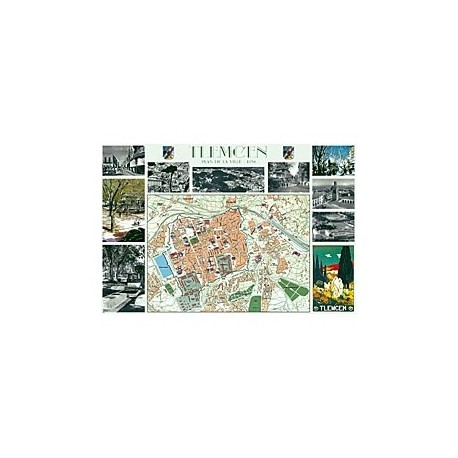 Plan des rues de Tlemcen, 1958