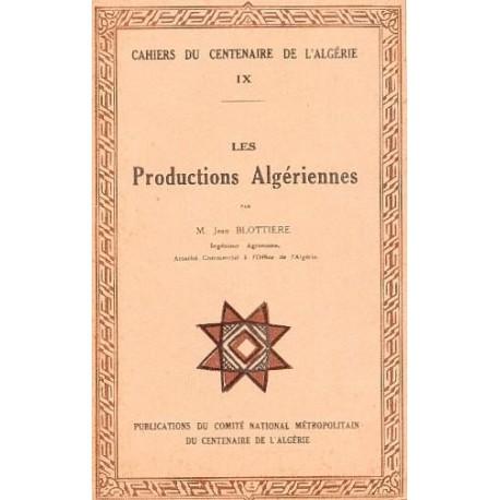 Cahier IX: Les productions algériennes
