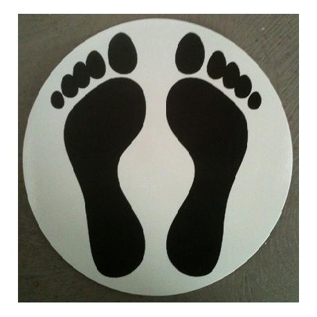 """Autocollant """"pieds noirs"""""""