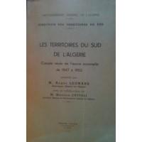 Les territoires du Sud de l'Algérie - Compte rendu
