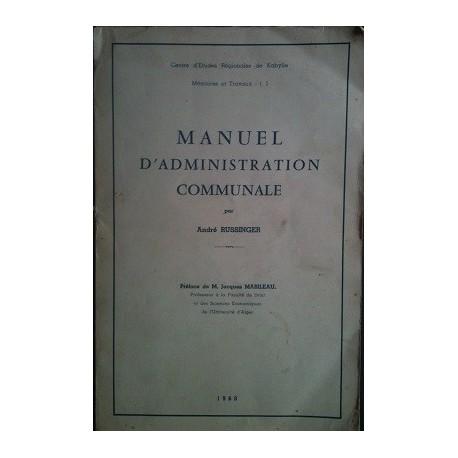 Manuel d'administration communale - Kabylie